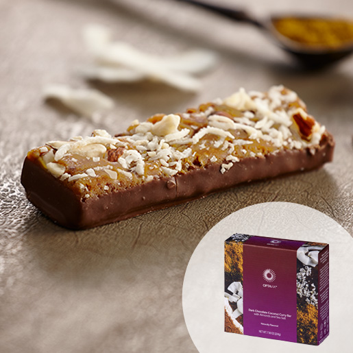 Select Dark Chocolate Coconut Curry Bar with Almonds and Sea Salt (Box)